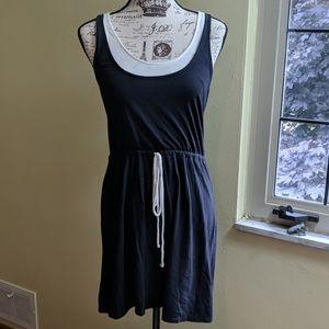 Lauren Conrad Black and White Casual Tank Dress